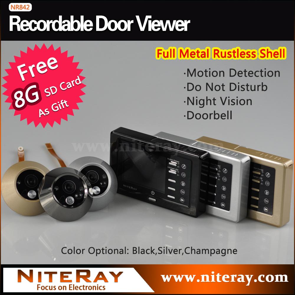 Peephole Camera Digital Door Viewer IR Infrared + Doorbell+Motion Sensor(China (Mainland))