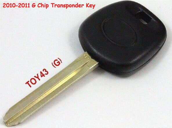 2PCS/lot For Toyota Transponder Key With G Chip TOY43 Uncut Key Blade (2010-2011 Year )(China (Mainland))