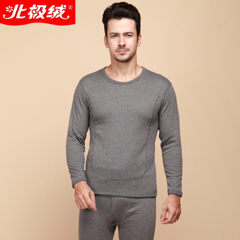 Super soft thicken cotton men thermal underwear chinese famous brand velvet warm male long johns winter clothes sets wholesale(China (Mainland))