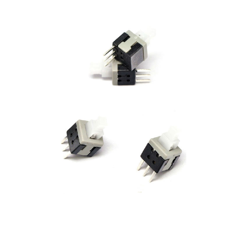 Free shipping 10pcs 5.8x5.8mm Self-locking Type Square Button Tactile Push Button Switch Momentary Tact DIP Through-Hole 3pin<br><br>Aliexpress