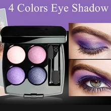 Professional 4 Color Eye Shadow Set Portable Long Lasting Flower Design Beauty Makeup Set Waterproof Female Makeup Products(China (Mainland))