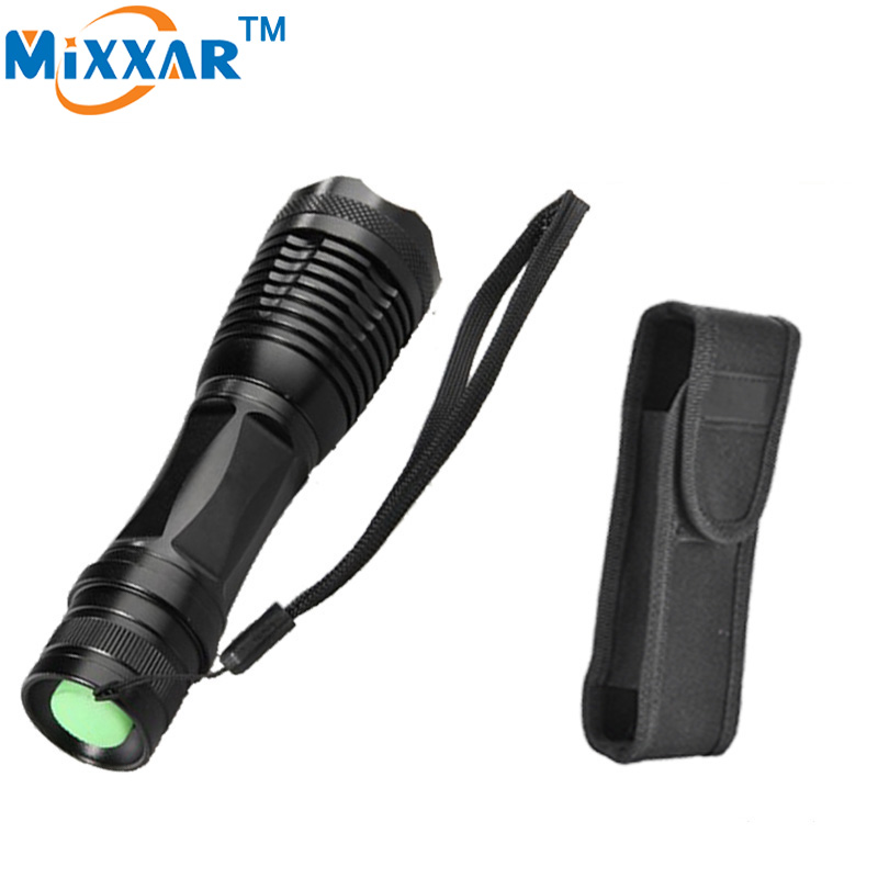 zk45 beautiful holster e17 CREE XM-L T6 4000 Lm High Power LED torch flashlight Focus lamp Zoomable light(China (Mainland))
