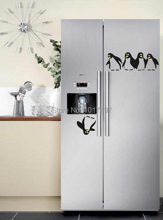 Chambre Bebe Gris Orange : Nouveau Design drôle cuisine réfrigérateur autocollant