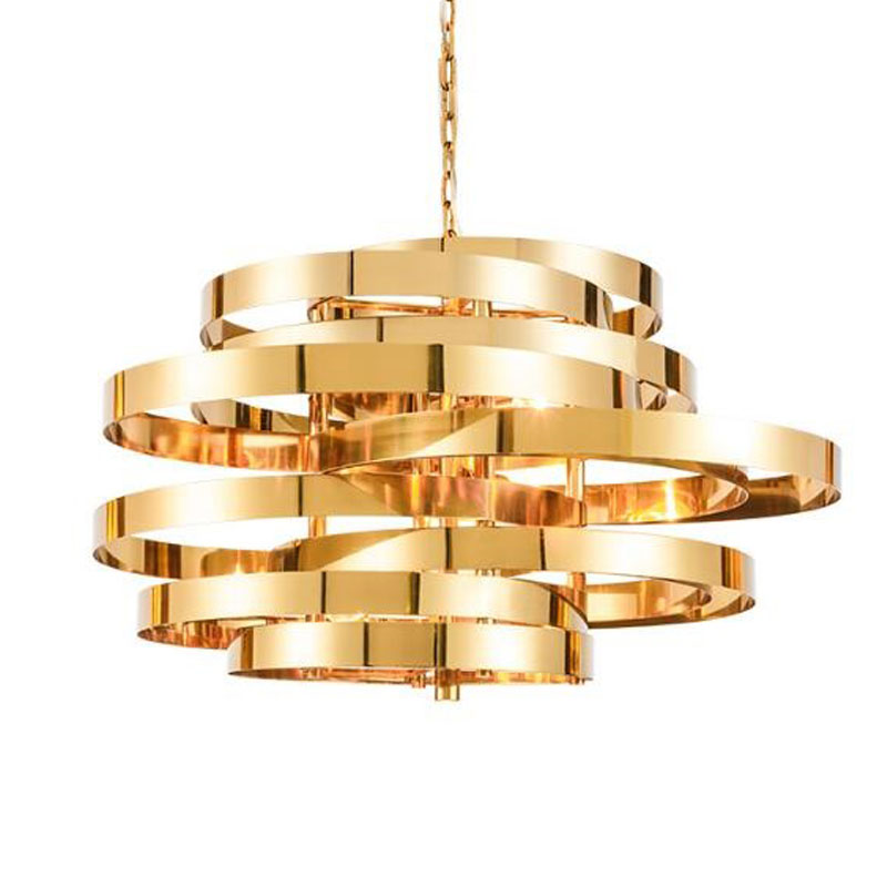 Modern golden chandeliers lighting, stainless steel pendant, Free shipping(China (Mainland))