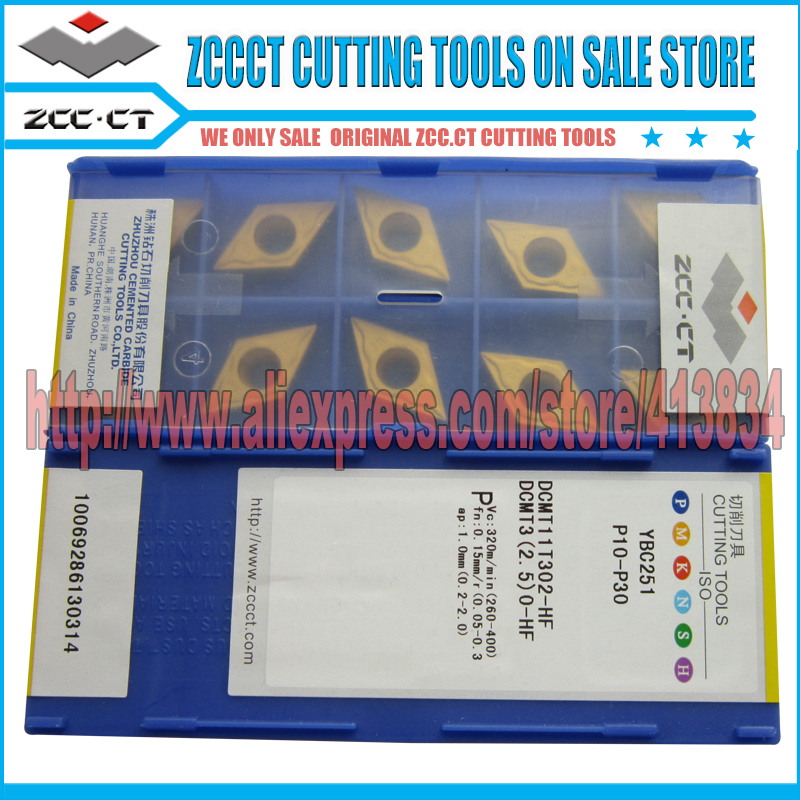 Free Shipping 50 units DCMT 11T302 HF YBC251 ZCC.CT Cemented Carbide Cutting Tool Turning Inserts(China (Mainland))