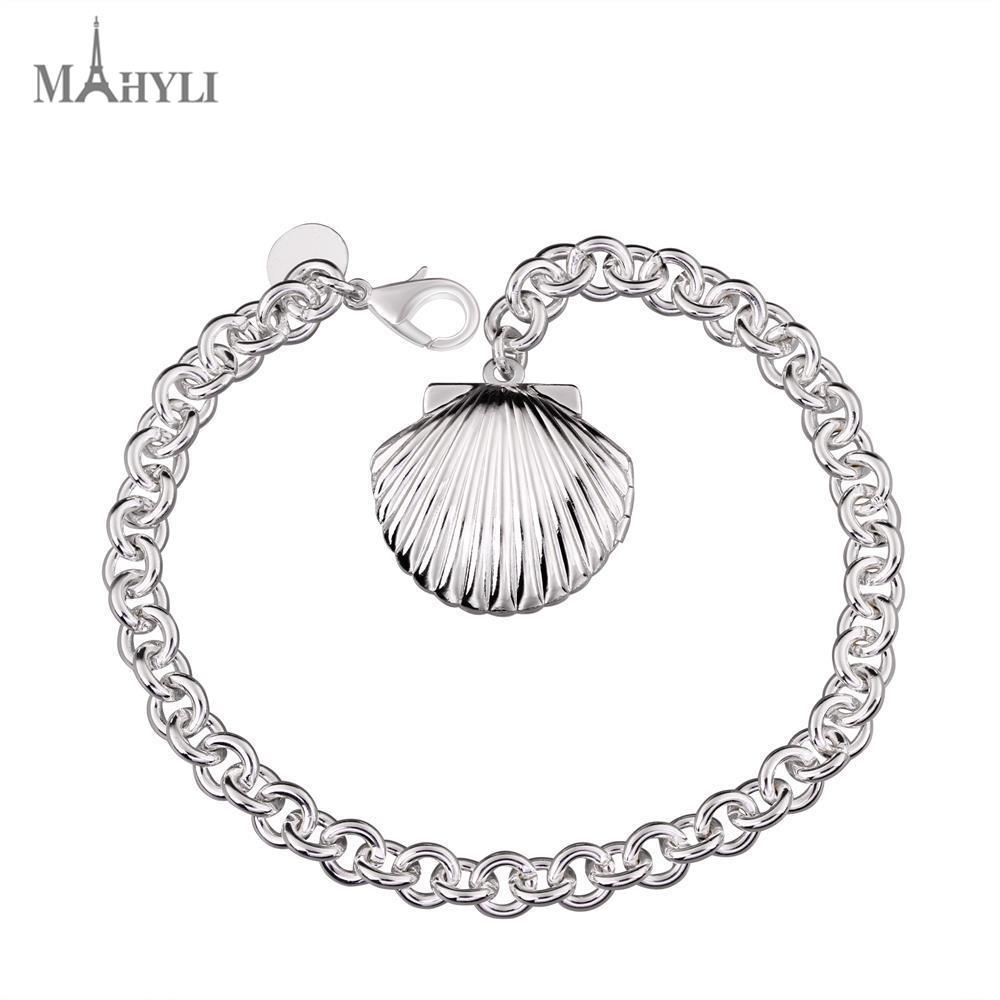 MAHYLI Fashion Bracelet Men Women shell shape Bangle Bracelet Fashion Retro Charm chain Wedding Jewelry For Women(China (Mainland))
