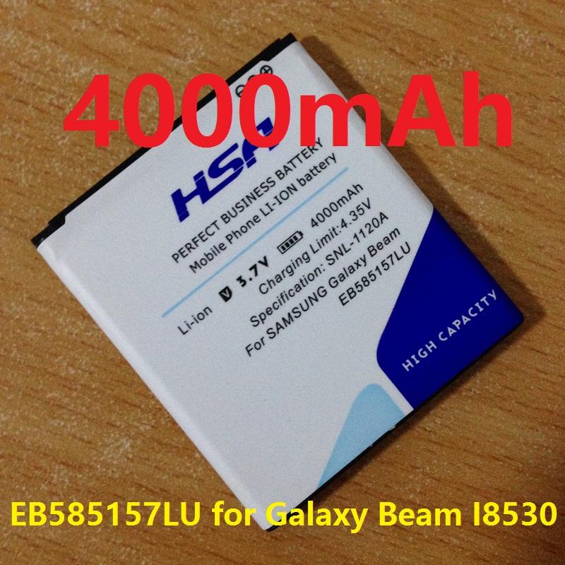 4000mAh High Capacity EB585157LU Battery for Samsung Galaxy Beam I8530 I8552 I8558 i869 I8550(China (Mainland))