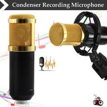 Schwarz Hohe Qualität Professionelle 3,5mm Verdrahtete BM-800 Kondensator Tonaufnahme Mikrofon mit Shock Mount für Radio Braodcasting(China (Mainland))