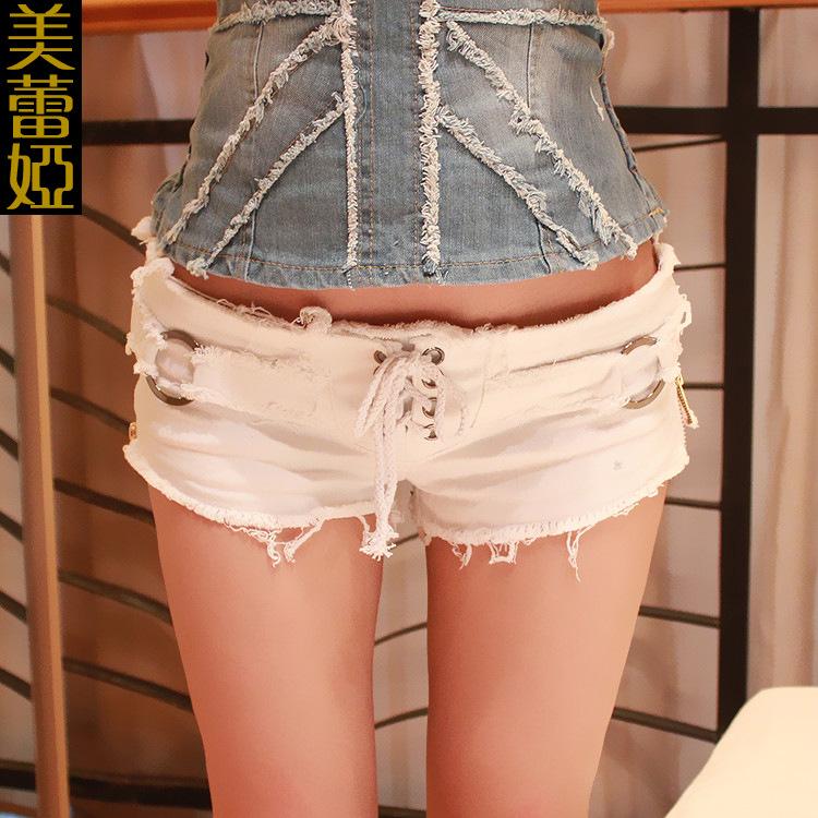 New 2016 Summer Women Holes Fashion Shorts Sexy Short Jeans Cut Off Low Waist Denim Jeans Shorts Mini Shorts(China (Mainland))