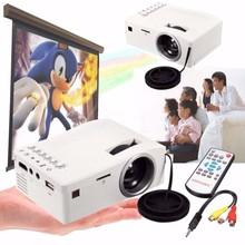 Full HD 1080P Home Theater LED Multimedia Projector Cinema TV HDMI White EU home projector hdmi projector