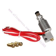 E3D V6 Extruder Hotend  with 5pcs Volcano Nozzle All Metal J-head 3D printer  for 1.75mm filament  Nozzle 0.4/0.6/0.8/1.0/1.2mm