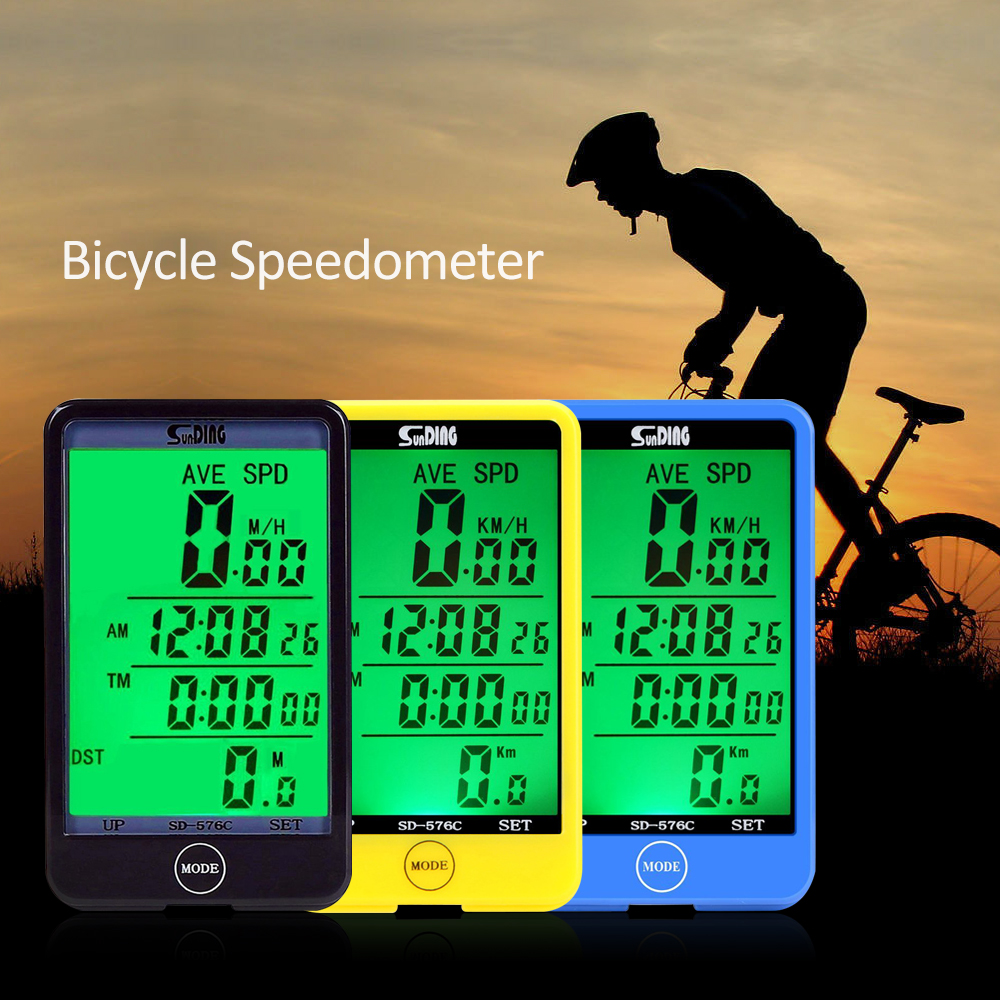 SD-576C Multifunctional Waterproof Wireless Bicycle Computer Stopwatch Odometer Speedometer Bike Cyclometers Touch LCD Screen(China (Mainland))