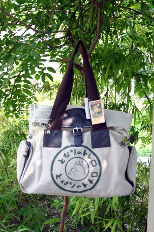 Hot Selling Anime Cosplay Canvas My Neighbor Totoro Durable Handbags Shoulder Bag Best Gifts Free Shipping