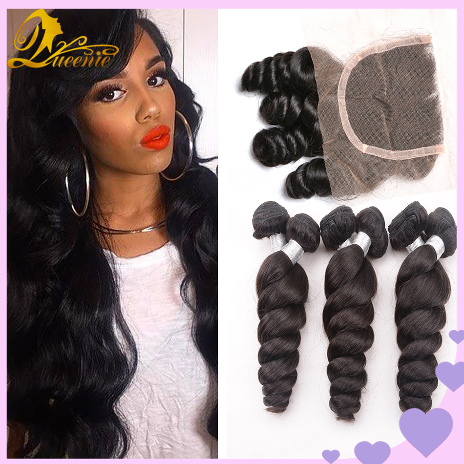 Ali Moda Hair Malaysian Loose Wave With Closure Virgin Maylasian Hair With Closure 4 Bundles Grade 7a Unprocessed Virgin Hair<br><br>Aliexpress