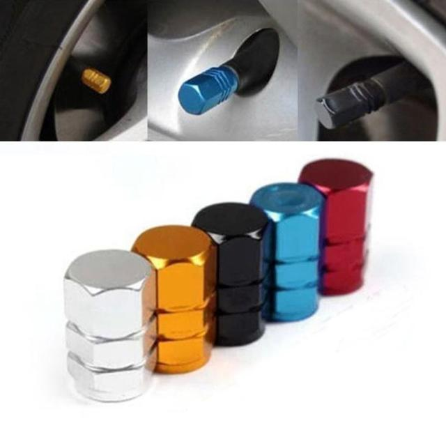 New 4pcs/pack Theftproof Aluminum Car Wheel Tires Valves Tyre Stem Air Caps Airtight Cover M14