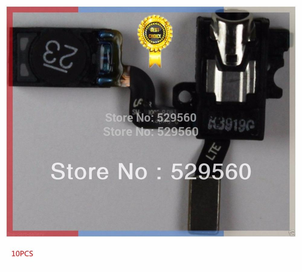 Для Samsung Галактики Примечание 3 n9000 n9005 (белый) разъем для наушников кабеля гибкого трубопровода диктора уха 10шт/много