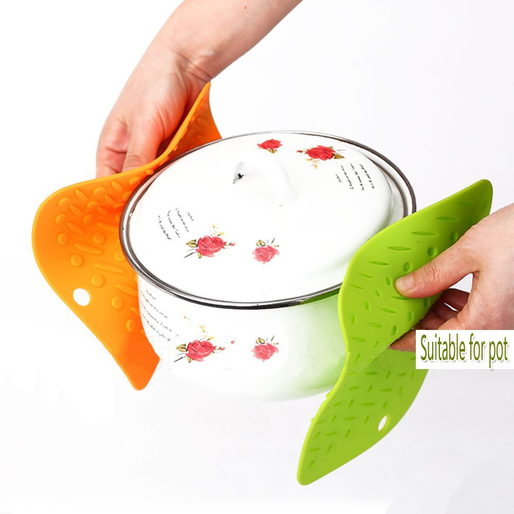 *US Ship* 4PCS Silicone Square Trivet Table Heat Resistant Mat Cup Coaster Cushion Placemat Table Pad kitchen Holder Tool(China (Mainland))