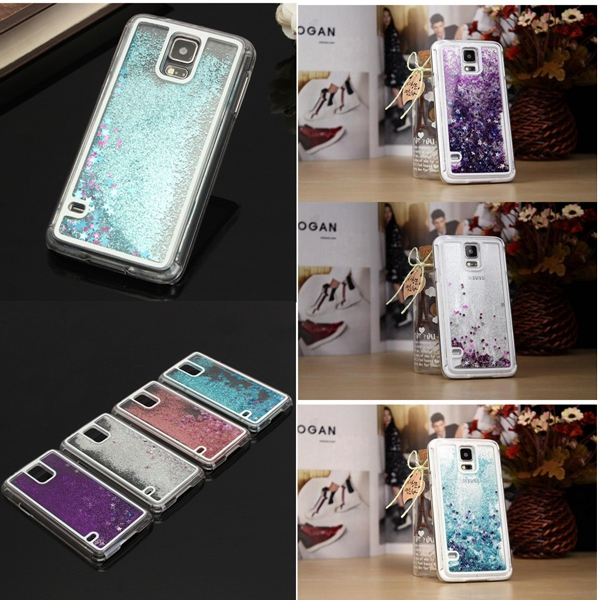 Brand new Glitter Bling Stars Colourful Dynamic Liquid Case Cover Protector For Samsung Galaxy S5 Mobile Phone Accessories(China (Mainland))