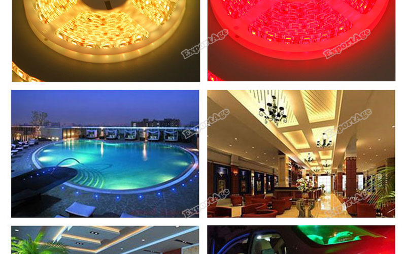 LidaBack Wonderful! 16FT 5M 12V Flexible 600 LED 3528 SMD Strip Light Car Light Non-Waterproof Latest!(China (Mainland))