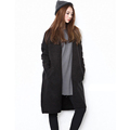 New Spring Autumn Female Women s Solid Color Long Style Pockets Loose Casual Leisure Sweater Coat