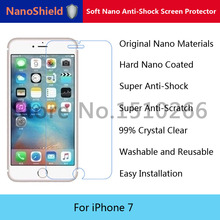 NanoShield Soft Nano Explosion-proof Anti-Shock Screen Protector Protective Film For iPhone 7 With Retail Packaging