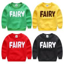 2016 autumn and winter child fleece sweatshirt boys girls child letter print pullover shirt sports boys sweatshirts(China (Mainland))