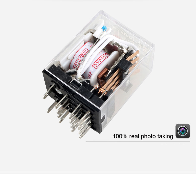 HH54PL MY4 general purpose relay 4NO+4NC 100%silver move contact<br><br>Aliexpress