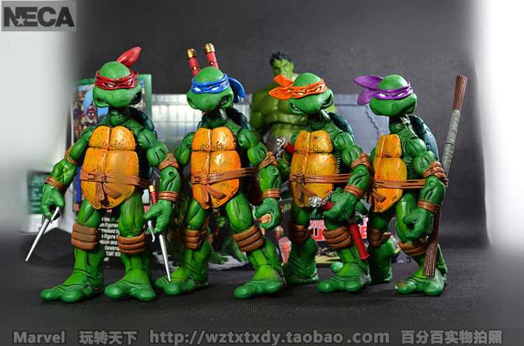 2014 New NECA TMNT Leis edition boxed genuine super movable dolls Year gifts Sets - lily Spade's store