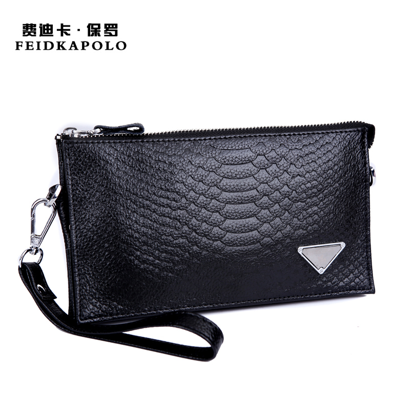 Hot Selling high quality leather wallet Luxury brand men wallet clutch handbags Multifunction crocodile clutch bag Messenger Bag(China (Mainland))