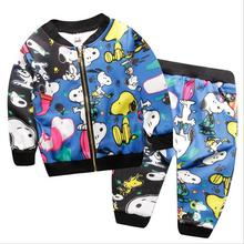 2016 Korean children's clothing trade of the original single and in children clothing cartoon baby sweater suit