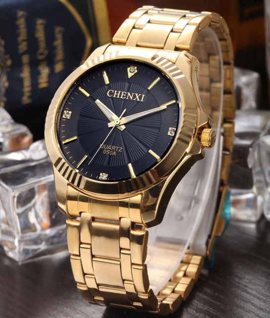 Zegarek męski CHENXI luksusowy unikalny złoty kolor różne warianty