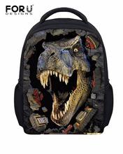 Cool 12 inch Small Children Dinosaur Backpack Boys Kindergarten Book Bag 3D Animal Face Kids School Bagpack Mochila Infantil(China (Mainland))