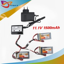 Buy 3pcs LiPo Battery 11.1V 1500Mah 3S 40C MAX 60C T Plug charger RC Car Airplane trucks buggy boats Helicopter for $42.09 in AliExpress store