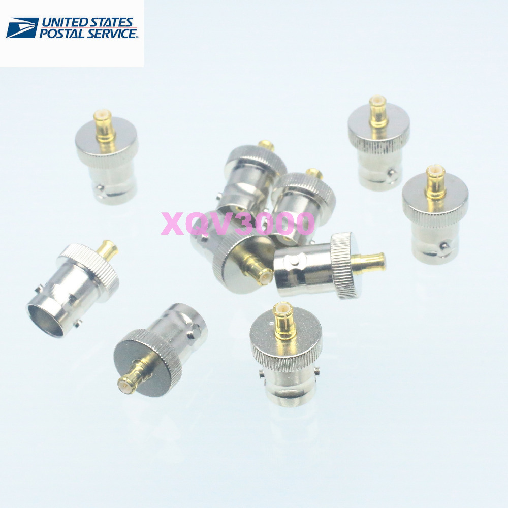 10pc BNC female jack to MCX male plug adapter connector for GPS antenna TV-Tuner(China (Mainland))