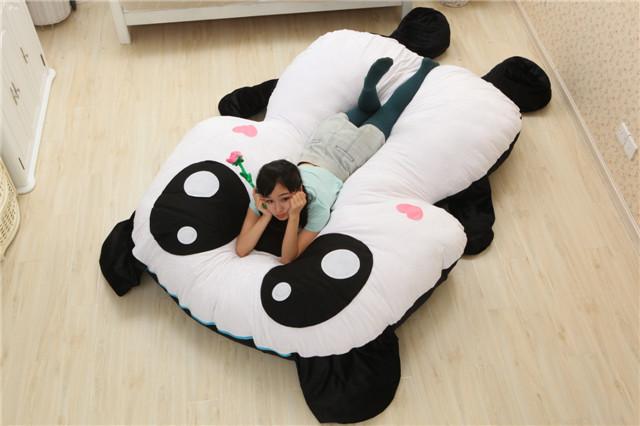 Panda Sleeping In Bed