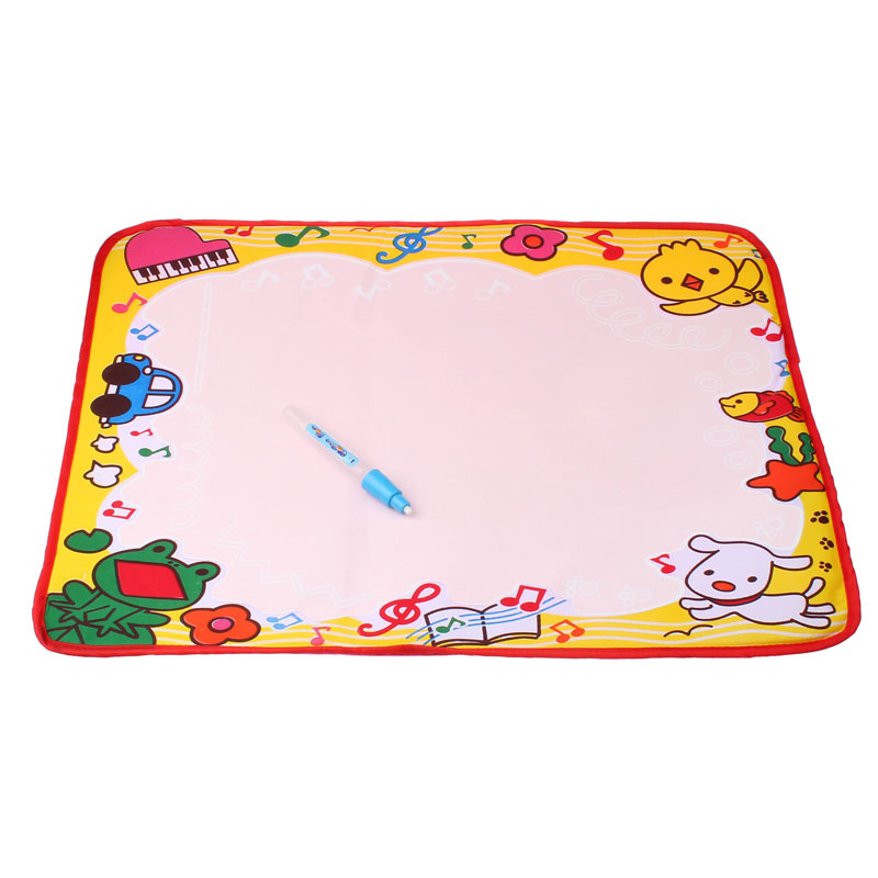 2015 Freeshipping 48*36CM Water Drawing Painting Writing Mat Board Magic Pen Doodle Kids Toy Gift L Puscard(China (Mainland))