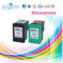Buy 2 pcs Ink Cartridge HP 338 Black & HP 343 Color HP Deskjet 460c 5740 5745 6520 6540 6620 6840 9800 325/375/2355/2570 for $17.34 in AliExpress store