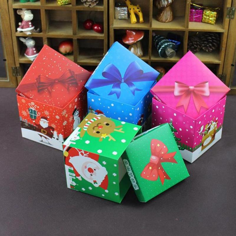 Christmas Gift Apple Candy Box Party Cake Box Merry Christmas Paper Packaging Box Wrap Dessert Festival Gift Package L45(China (Mainland))
