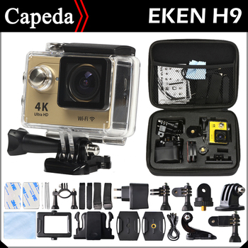 "Action camera EKEN H9 Ultra HD 4K WiFi with case 1080P/30fps 2.0"" 170D lens Helmet Cam underwater waterproof camera Not SJ4000"