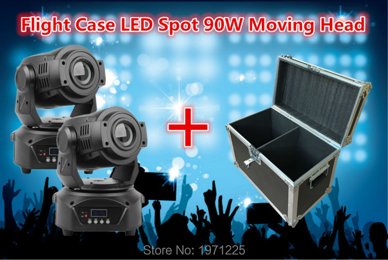 90W Led Moving Head Spot Light DMX 6/15CH beam light with case 2 in 1<br><br>Aliexpress