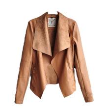 Spring Autumn 2015 New European And American Fashion Women Coat Slim Thin Short Pu Leather Jacket Women Clothing Chaquetas Mujer(China (Mainland))