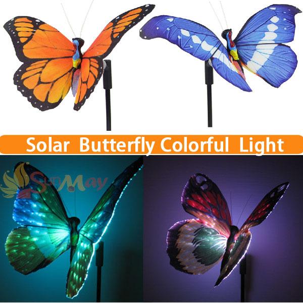 4 PCS Solar Power LED Butterfly Outdoor Light RGB LED Garden Lamp Outdoor Solar Energy Spot Light LED Decoration Garden Light(China (Mainland))