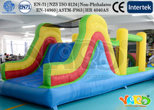 Super dual slide inflatable combo bounce house inflatable bouncer moonwalk jumping jumper for kids with cheap price(China (Mainland))