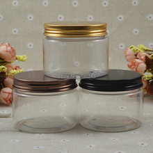 150G transparent PET cream bottle,cosmetic container,cream jar,Cosmetic Jar black bronze gold lid ,Cosmetic Packaging - packing world -cosmetic and medicine store