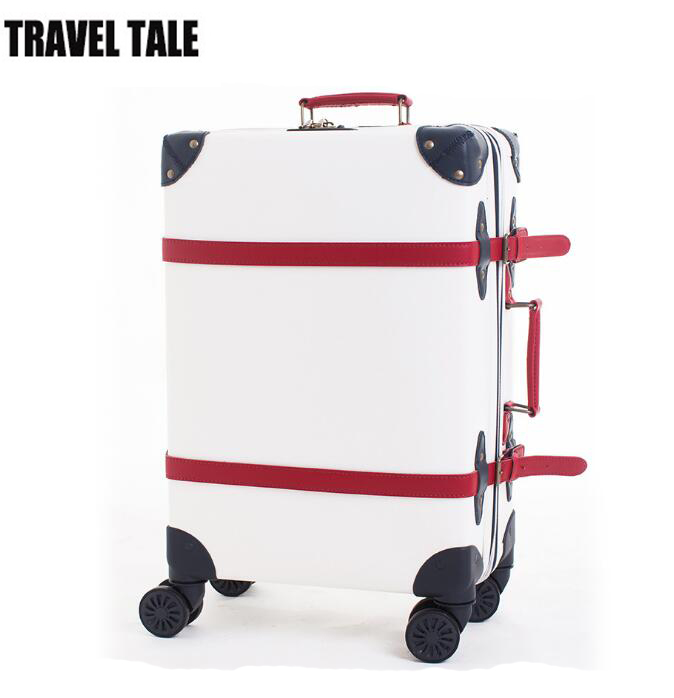 TRAVEL TALE white color women leather cabin luggage small vintage suitcase(China (Mainland))