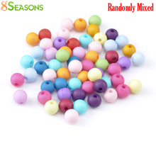 """Buy 8SEASONS 300PCs Mixed Round Acrylic Spacer Beads 8mm (3/8"""") Dia., B19525 for $1.86 in AliExpress store"""