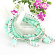 2014 Pulseira Masculina Fashion Multilayer Stretch Bracelets For Women Alloy Top Quality Hot New Products Pulseiras Femininas(China (Mainland))