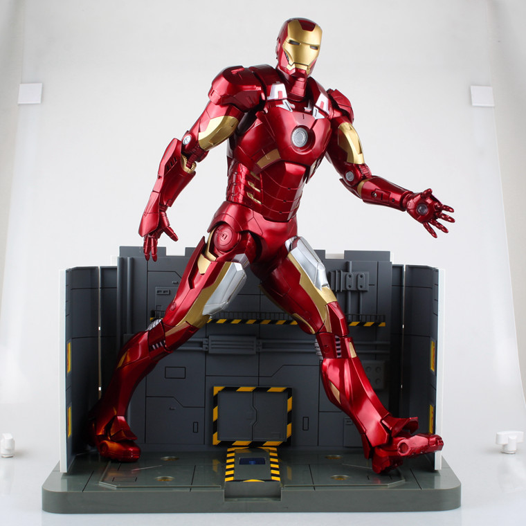 big size NECA 18 inch 1:4 LED light iron man mark 7mk7 Toy action Figures DHL free shipping(China (Mainland))