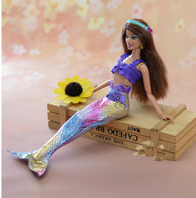 New Handmade Party Doll' s Mermaid summer clothes For Barbie children gift of free shipping(China (Mainland))