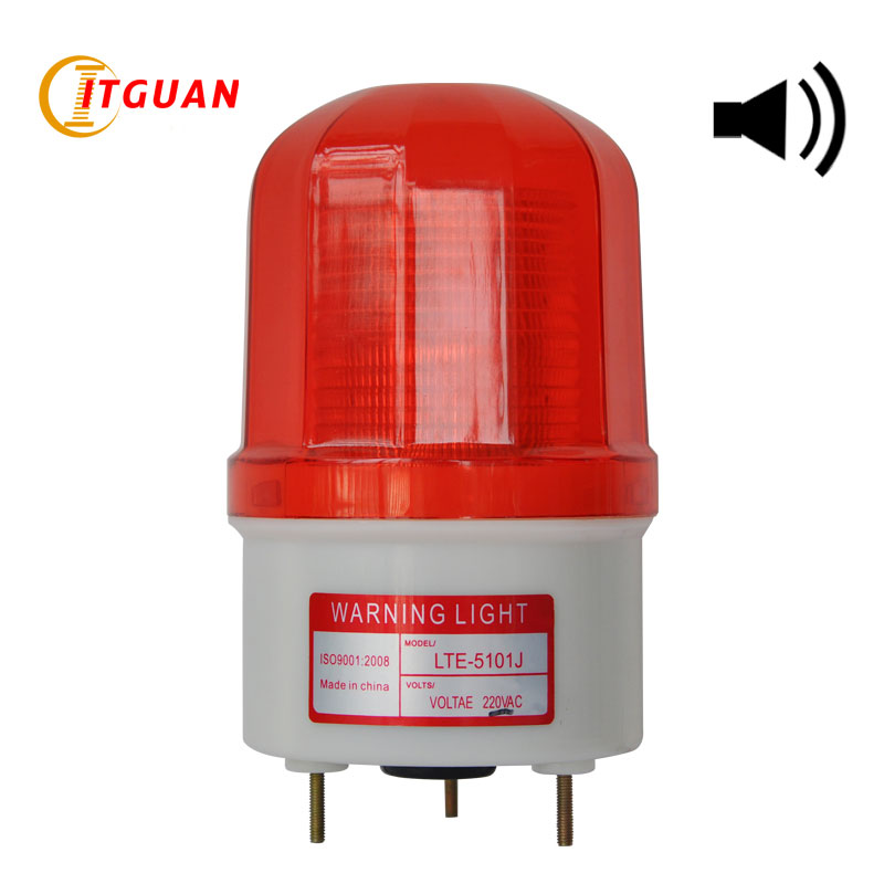 LTE-5101J AC/DC12V-380V Flashing Warning Lamp Alarm with Sound 90dB Car Industrial Emergency Strobe Light Beacon Tower Signal<br><br>Aliexpress